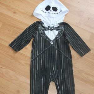 Infant Jack Skellington Hooded One Piece
